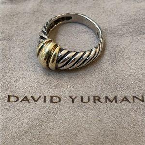 David Yurman Silver Gold Ring